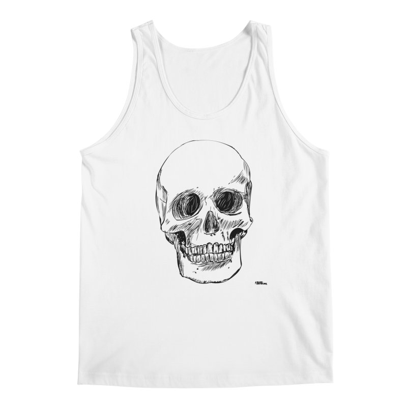 A Simple Skull Men's Tank by ROCK ARTWORK | T-shirts & apparels