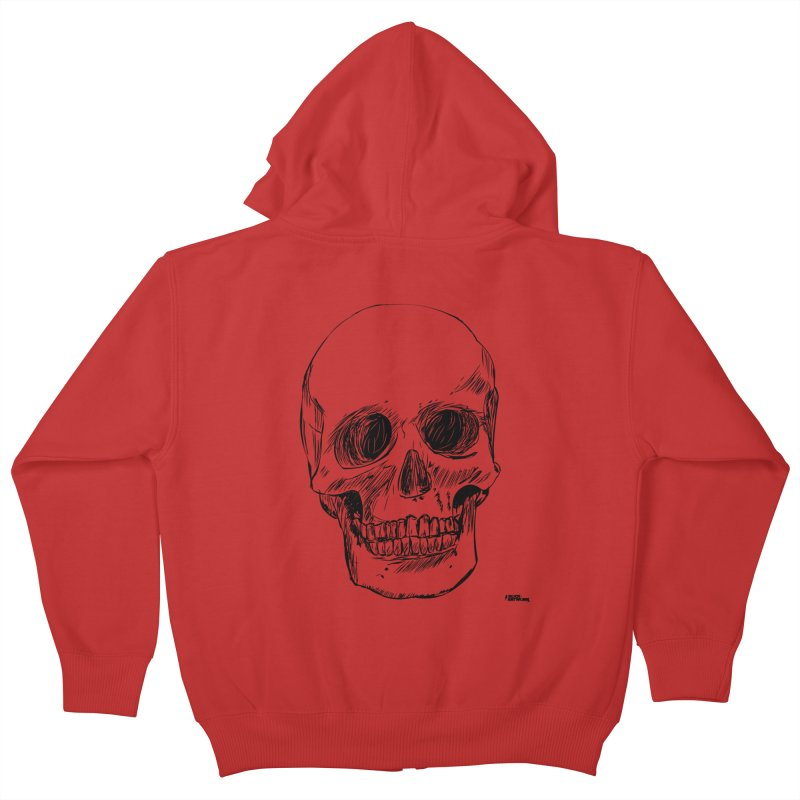 A Simple Skull Kids Zip-Up Hoody by ROCK ARTWORK | T-shirts & apparels