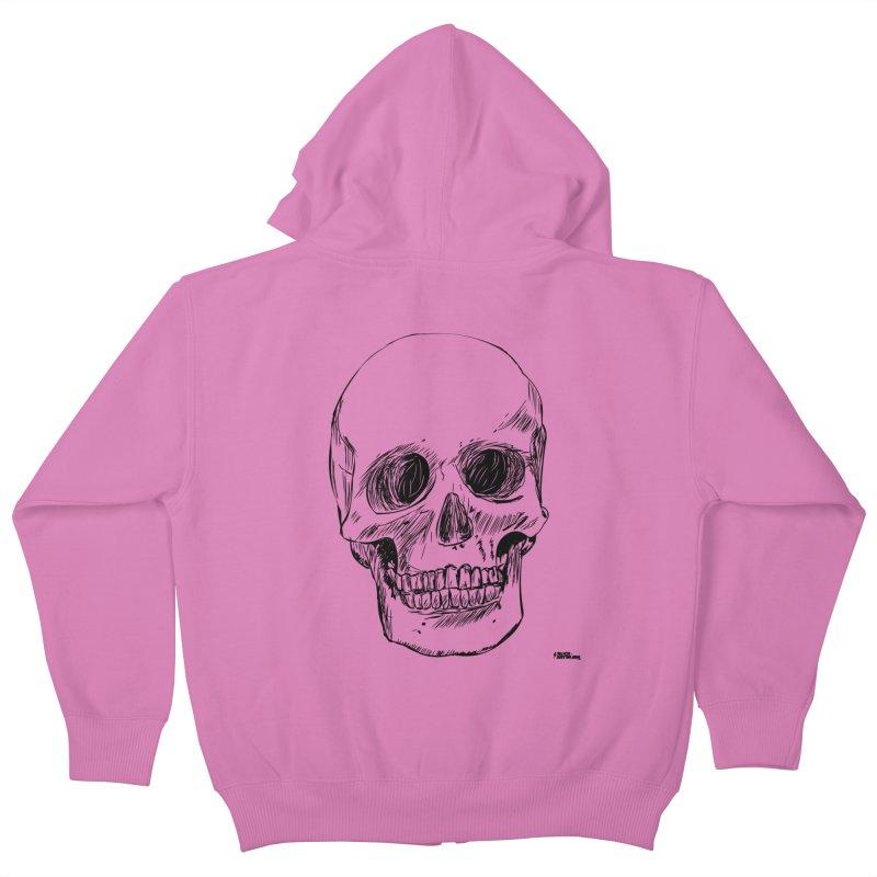 A Simple Skull Kids Zip-Up Hoody by ROCK ARTWORK | T-shirts & apparels