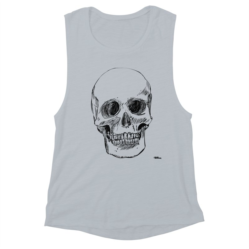 A Simple Skull Women's Muscle Tank by ROCK ARTWORK | T-shirts & apparels