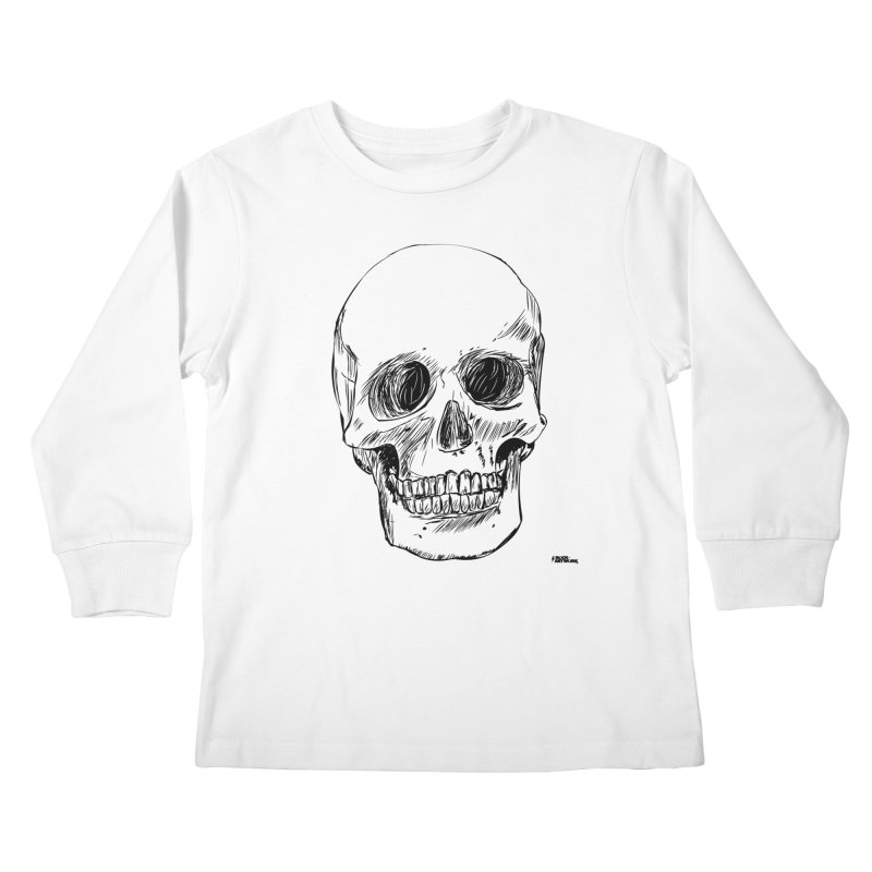 A Simple Skull Kids Longsleeve T-Shirt by ROCK ARTWORK | T-shirts & apparels