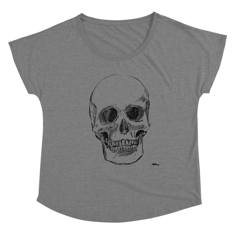 A Simple Skull Women's Scoop Neck by ROCK ARTWORK | T-shirts & apparels
