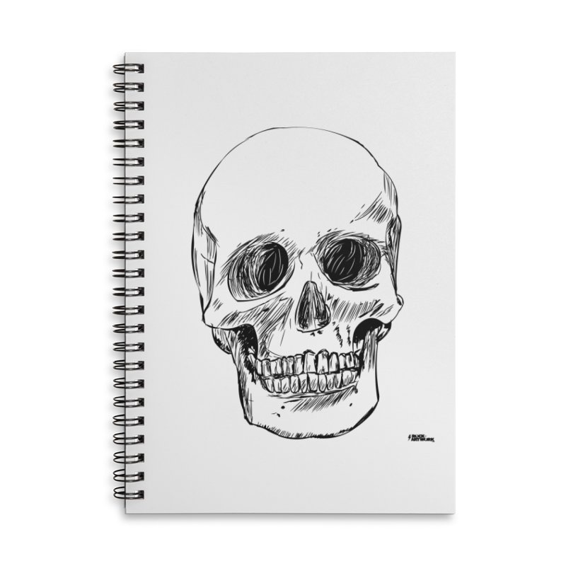 A Simple Skull Accessories Lined Spiral Notebook by ROCK ARTWORK | T-shirts & apparels