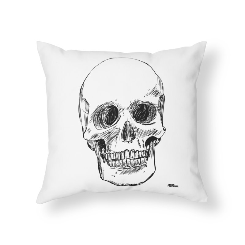 A Simple Skull Home Throw Pillow by ROCK ARTWORK | T-shirts & apparels