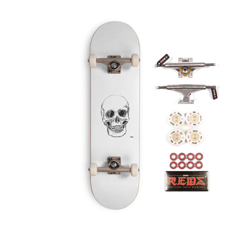 A Simple Skull Accessories Complete - Pro Skateboard by ROCK ARTWORK | T-shirts & apparels