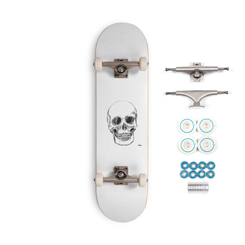 A Simple Skull Accessories Complete - Basic Skateboard by ROCK ARTWORK | T-shirts & apparels