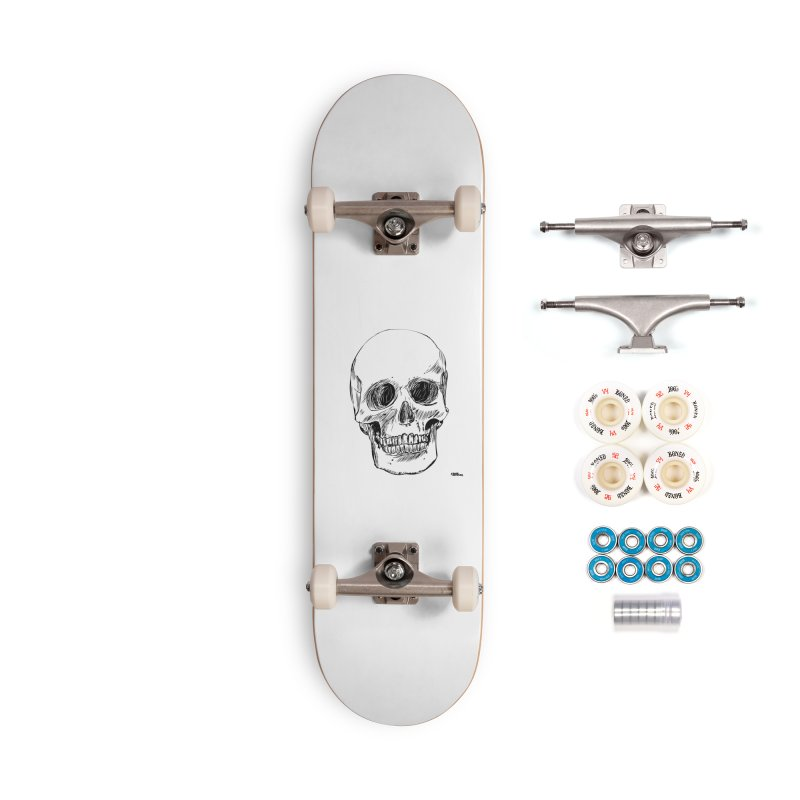 A Simple Skull Accessories Complete - Premium Skateboard by ROCK ARTWORK | T-shirts & apparels