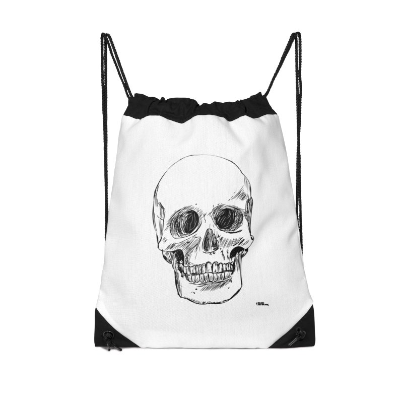 A Simple Skull Accessories Drawstring Bag Bag by ROCK ARTWORK | T-shirts & apparels