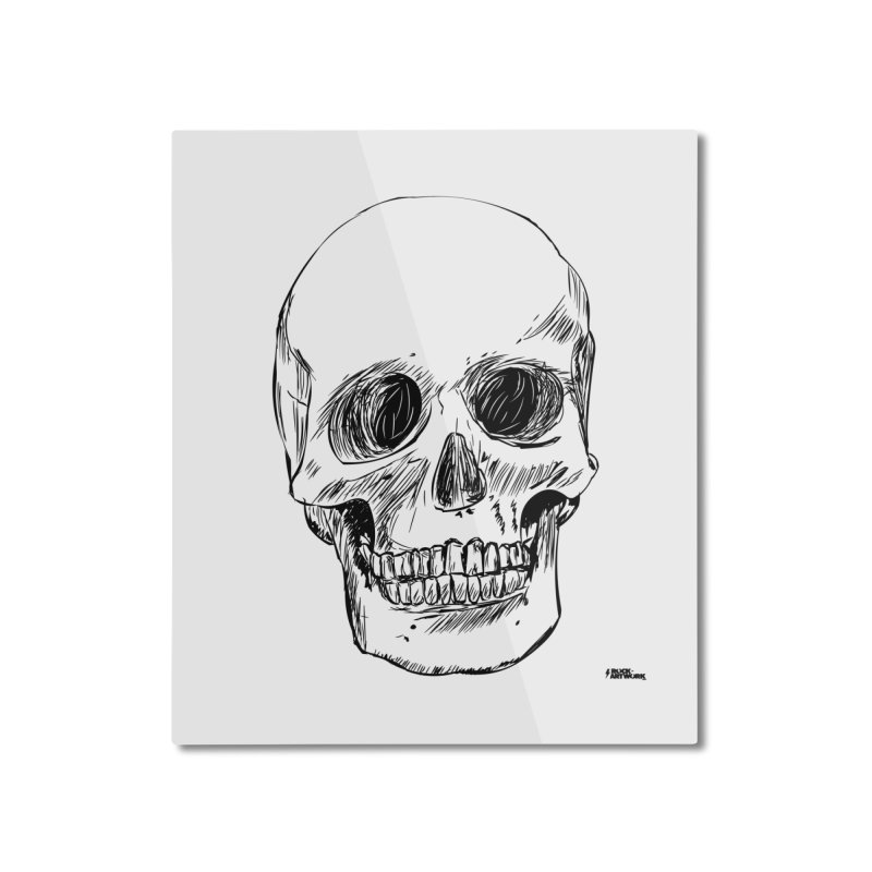 A Simple Skull Home Mounted Aluminum Print by ROCK ARTWORK | T-shirts & apparels