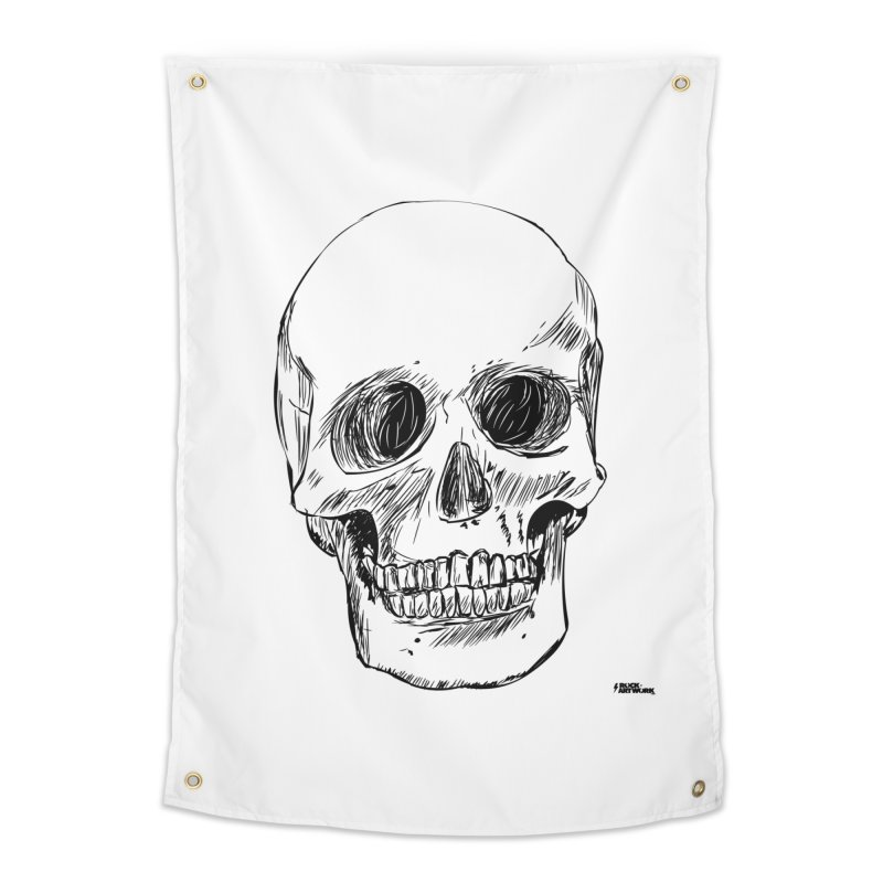 A Simple Skull Home Tapestry by ROCK ARTWORK | T-shirts & apparels