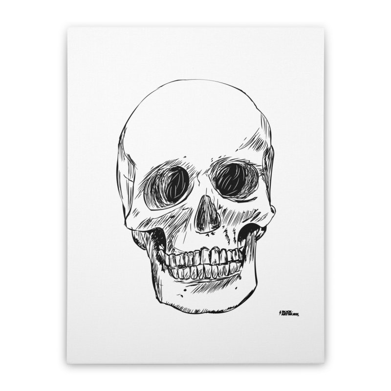 A Simple Skull Home Stretched Canvas by ROCK ARTWORK | T-shirts & apparels