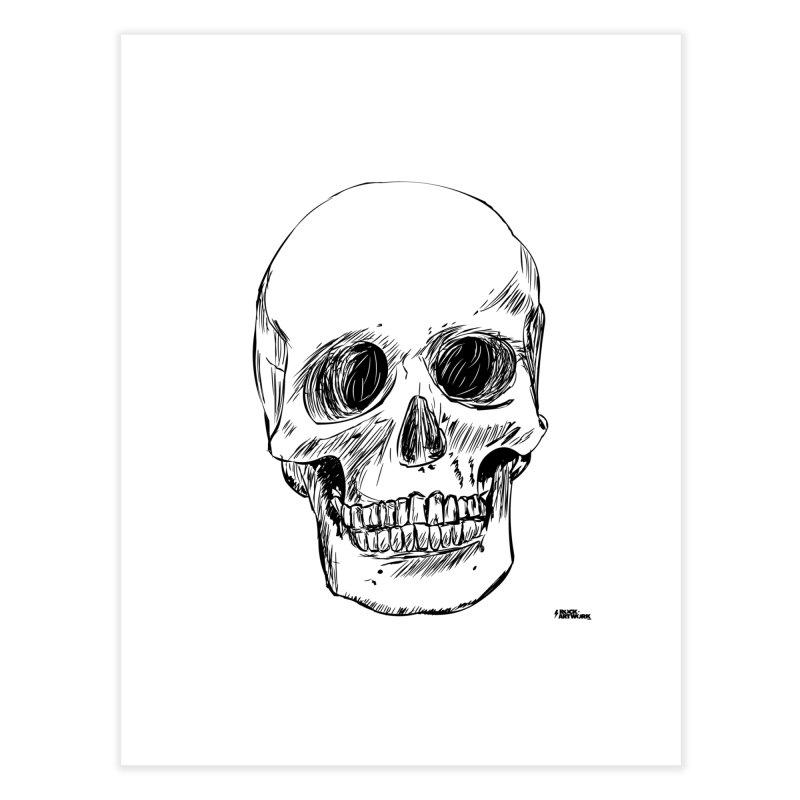 A Simple Skull Home Fine Art Print by ROCK ARTWORK | T-shirts & apparels