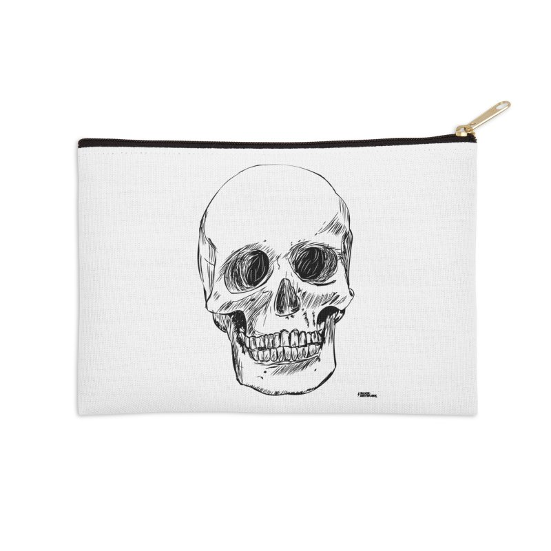 A Simple Skull Accessories Zip Pouch by ROCK ARTWORK | T-shirts & apparels