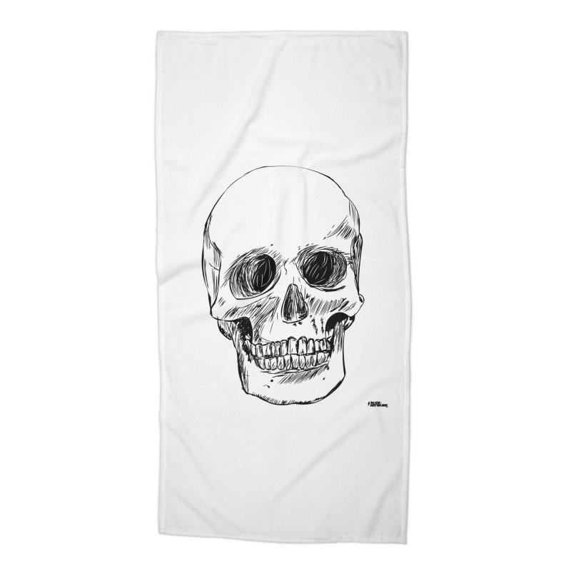 A Simple Skull Accessories Beach Towel by ROCK ARTWORK | T-shirts & apparels