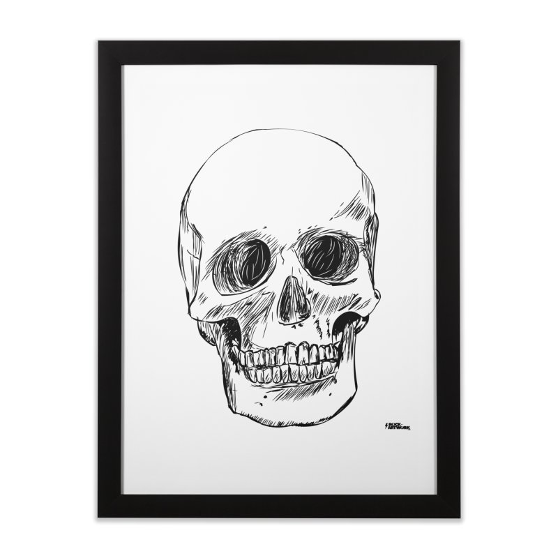 A Simple Skull Home Framed Fine Art Print by ROCK ARTWORK | T-shirts & apparels