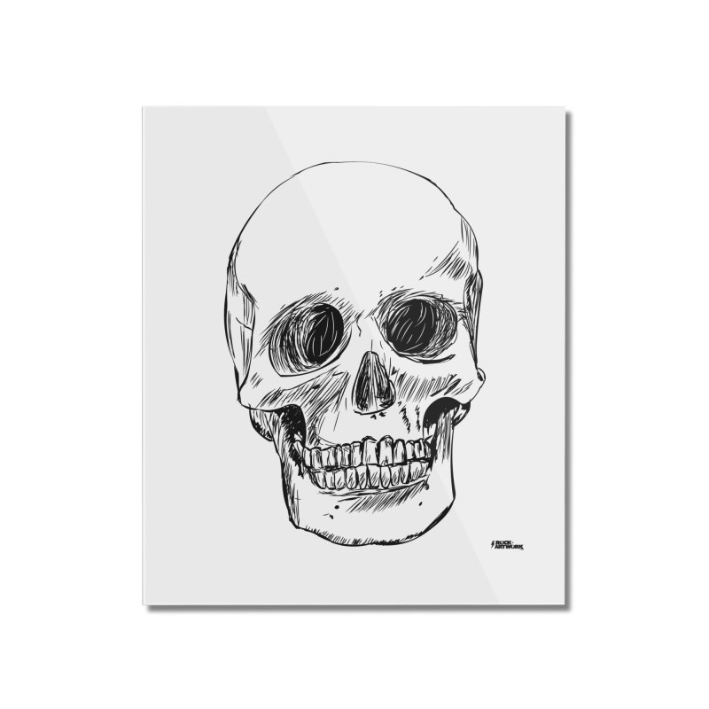 A Simple Skull Home Mounted Acrylic Print by ROCK ARTWORK | T-shirts & apparels