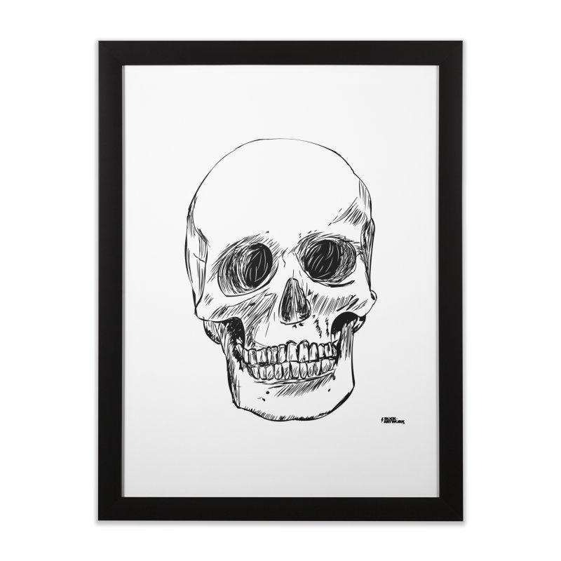 A Simple Skull Home Framed Fine Art Print by ROCK ARTWORK   T-shirts & apparels