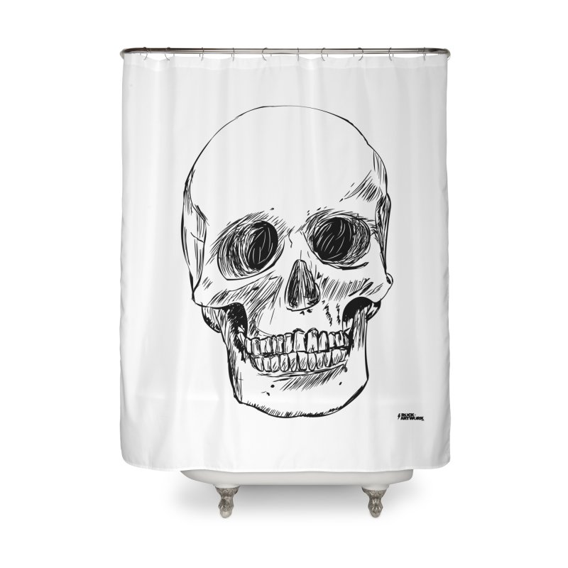 A Simple Skull Home Shower Curtain by ROCK ARTWORK | T-shirts & apparels