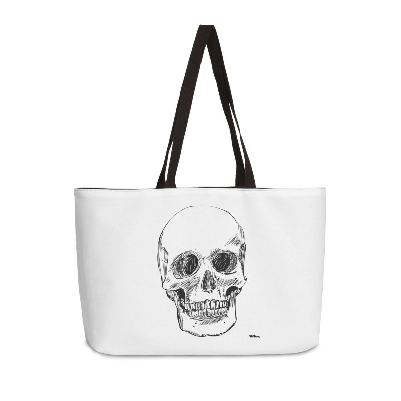 A Simple Skull Accessories Weekender Bag Bag by ROCK ARTWORK | T-shirts & apparels
