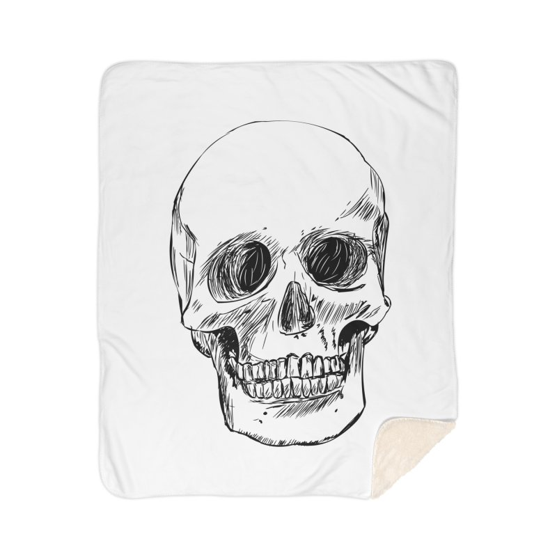 A Simple Skull Home Sherpa Blanket Blanket by ROCK ARTWORK | T-shirts & apparels