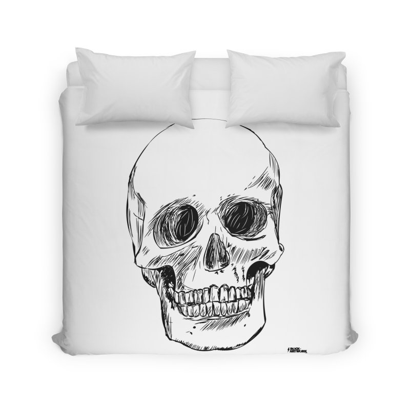 A Simple Skull Home Duvet by ROCK ARTWORK | T-shirts & apparels