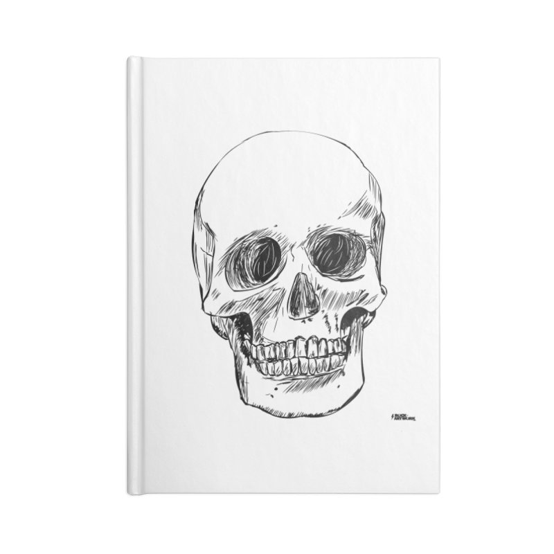 A Simple Skull Accessories Lined Journal Notebook by ROCK ARTWORK | T-shirts & apparels