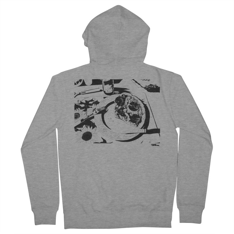 PIZZA TIME Men's French Terry Zip-Up Hoody by ROCK ARTWORK | T-shirts & apparels