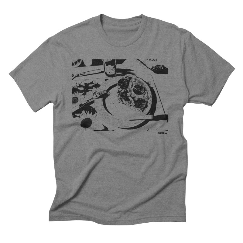 PIZZA TIME in Men's Triblend T-Shirt Grey Triblend by ROCK ARTWORK | T-shirts & apparels