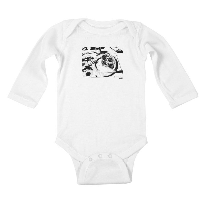 PIZZA TIME Kids Baby Longsleeve Bodysuit by ROCK ARTWORK | T-shirts & apparels