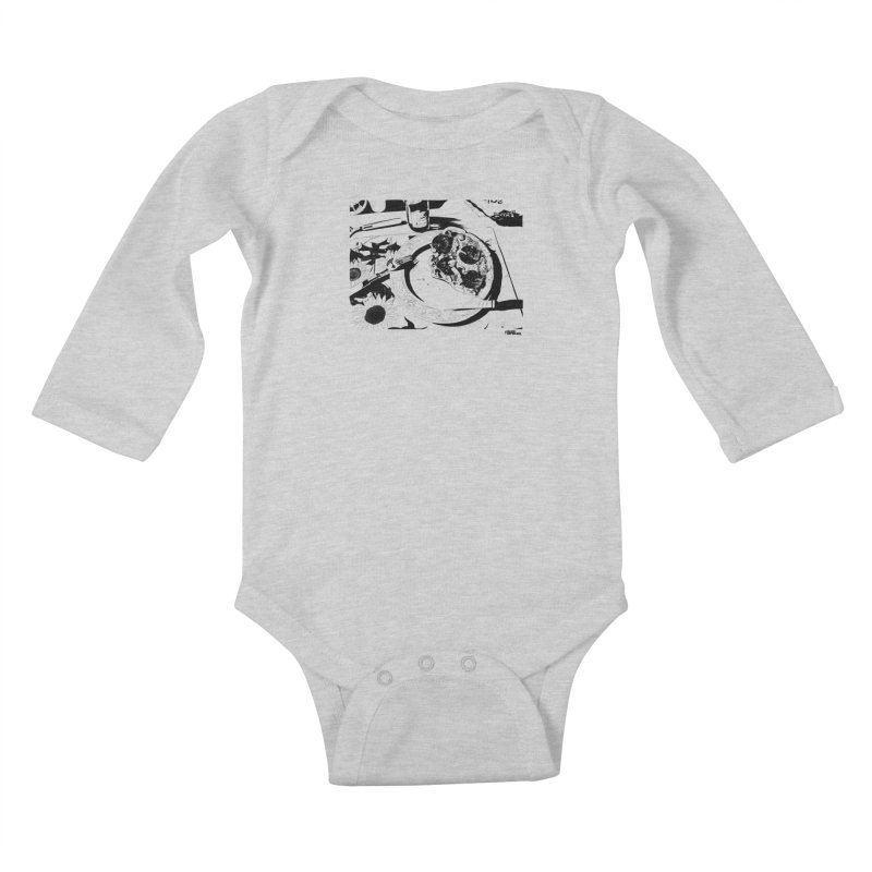 PIZZA TIME Kids Baby Longsleeve Bodysuit by ROCK ARTWORK | T-shirts & apparels