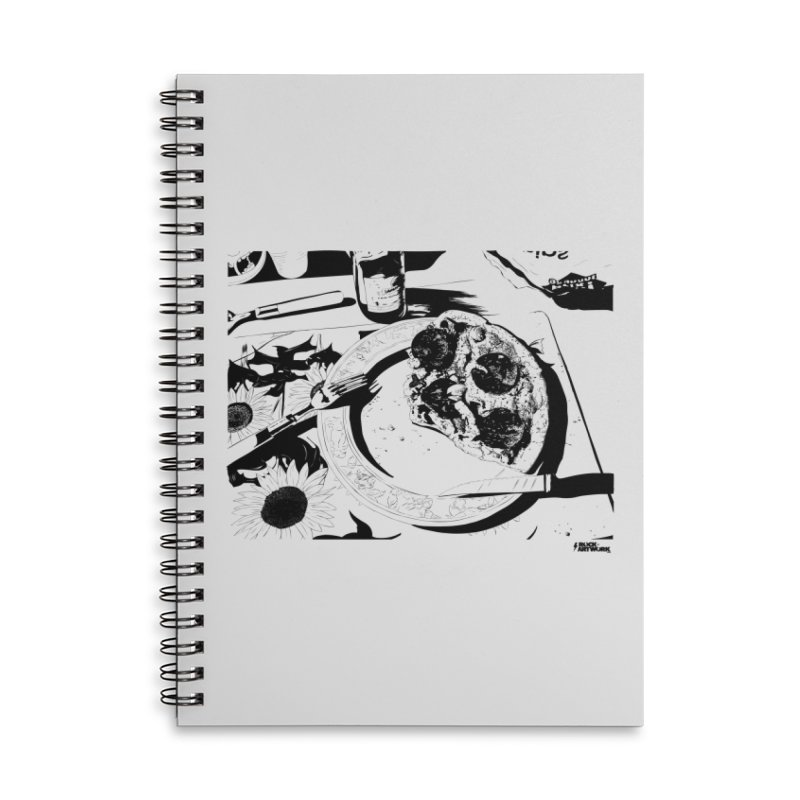PIZZA TIME Accessories Lined Spiral Notebook by ROCK ARTWORK | T-shirts & apparels