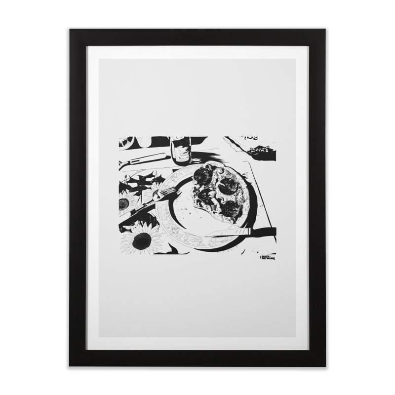 PIZZA TIME Home Framed Fine Art Print by ROCK ARTWORK | T-shirts & apparels