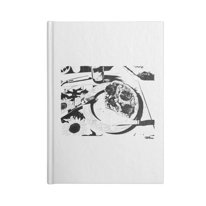 PIZZA TIME Accessories Lined Journal Notebook by ROCK ARTWORK | T-shirts & apparels