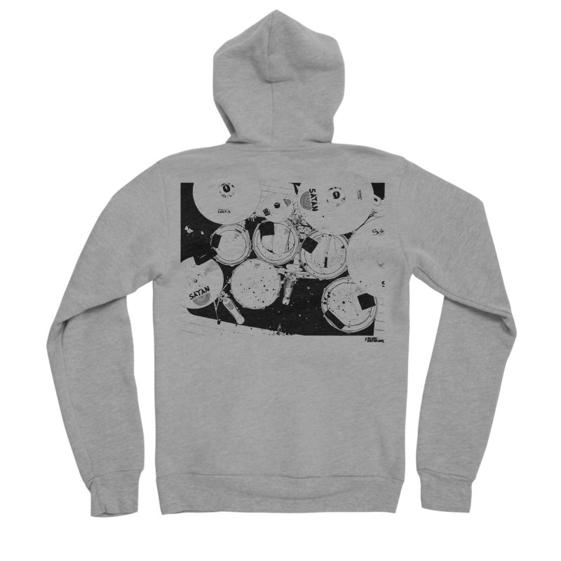 drums Men's Sponge Fleece Zip-Up Hoody by ROCK ARTWORK | T-shirts & apparels