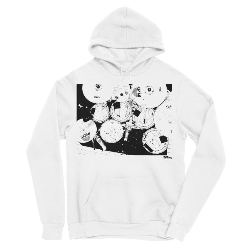drums Men's Sponge Fleece Pullover Hoody by ROCK ARTWORK | T-shirts & apparels