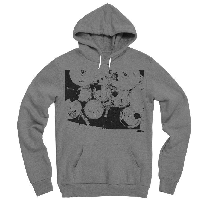 drums Men's Sponge Fleece Pullover Hoody by ROCK ARTWORK | T-shirts & apparels