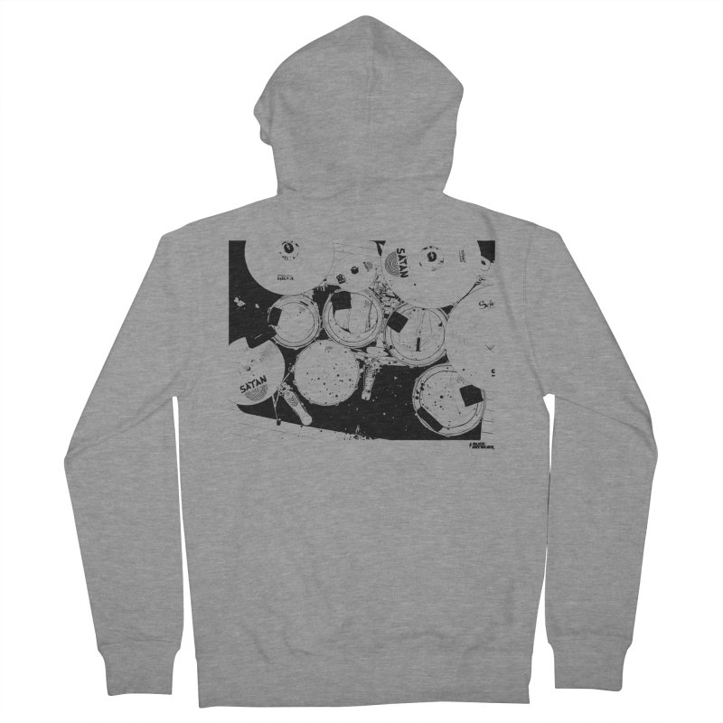 drums Men's Zip-Up Hoody by ROCK ARTWORK | T-shirts & apparels