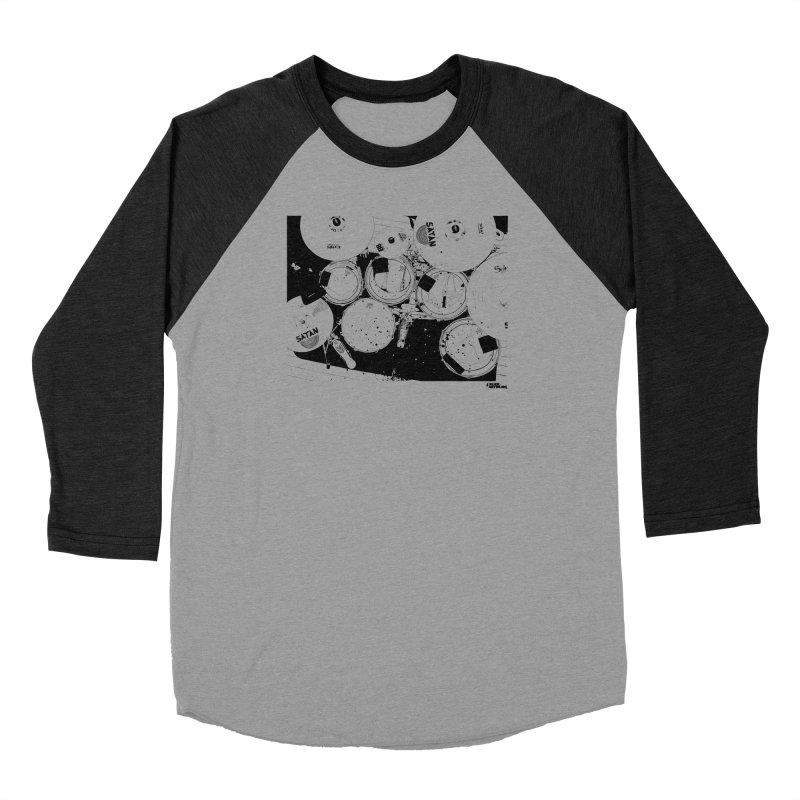 drums Women's Baseball Triblend Longsleeve T-Shirt by ROCK ARTWORK | T-shirts & apparels