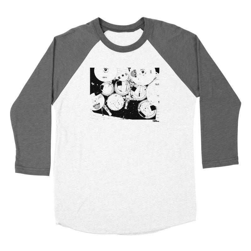 drums Men's Baseball Triblend Longsleeve T-Shirt by ROCK ARTWORK   T-shirts & apparels