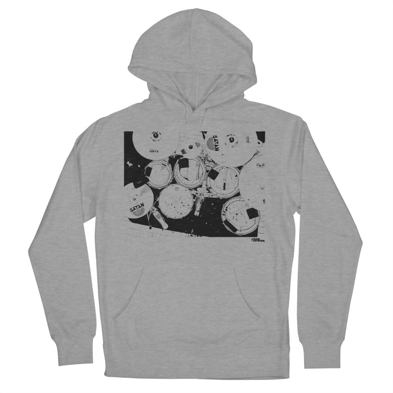 drums Men's French Terry Pullover Hoody by ROCK ARTWORK | T-shirts & apparels