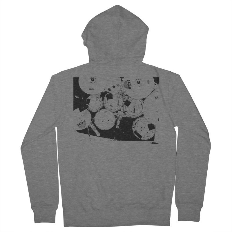 drums Women's French Terry Zip-Up Hoody by ROCK ARTWORK   T-shirts & apparels