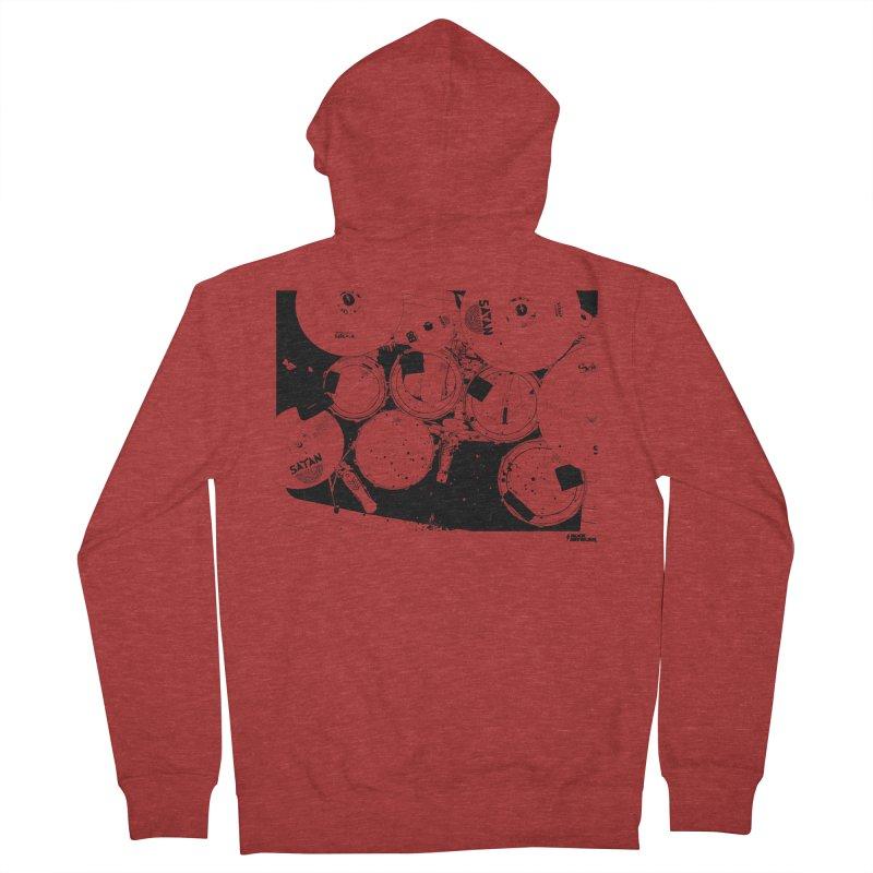 drums Men's Zip-Up Hoody by ROCK ARTWORK   T-shirts & apparels