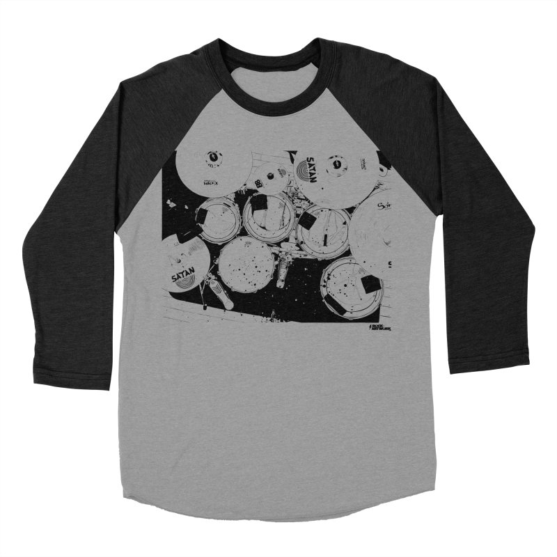drums Women's Baseball Triblend Longsleeve T-Shirt by ROCK ARTWORK | T-shirts & apparels