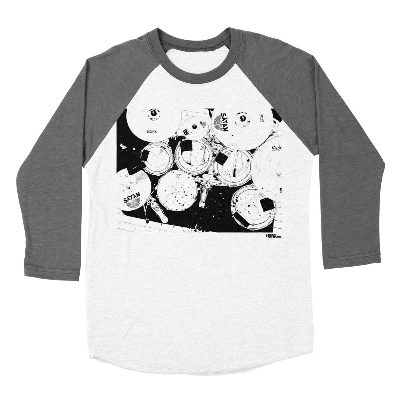 drums Men's Baseball Triblend Longsleeve T-Shirt by ROCK ARTWORK | T-shirts & apparels