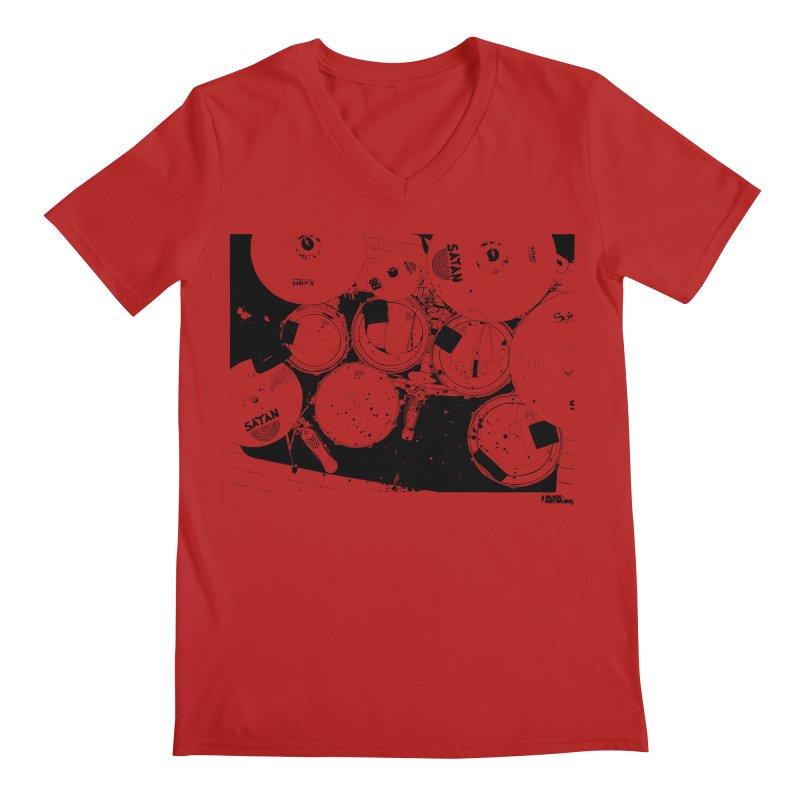 drums Men's V-Neck by ROCK ARTWORK | T-shirts & apparels