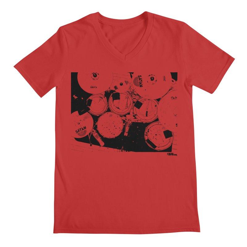drums Men's V-Neck by ROCK ARTWORK   T-shirts & apparels