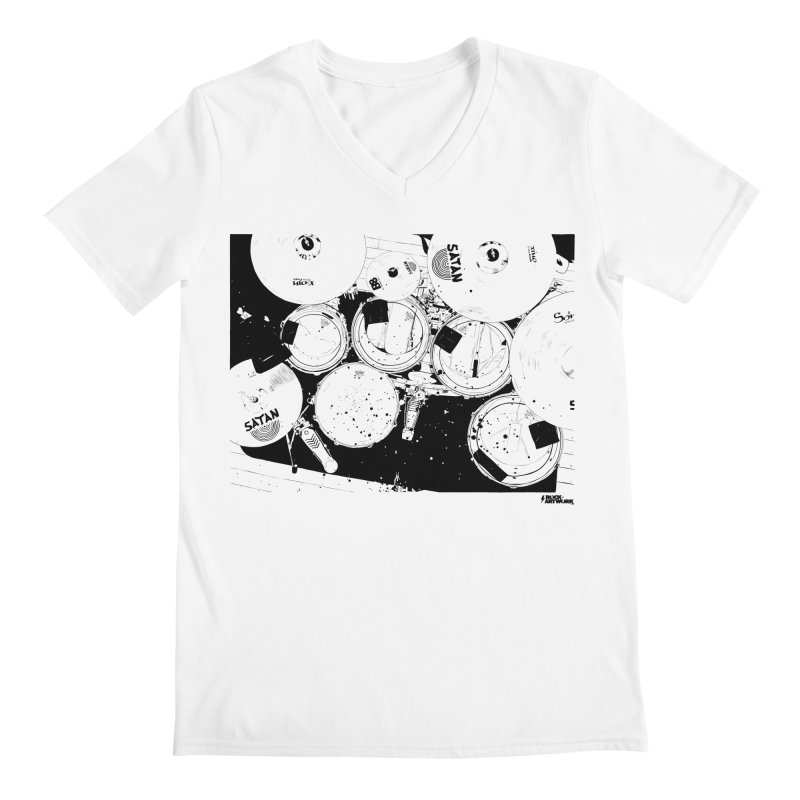 drums Men's V-Neck by ROCK ARTWORK | T-shirts & apparels
