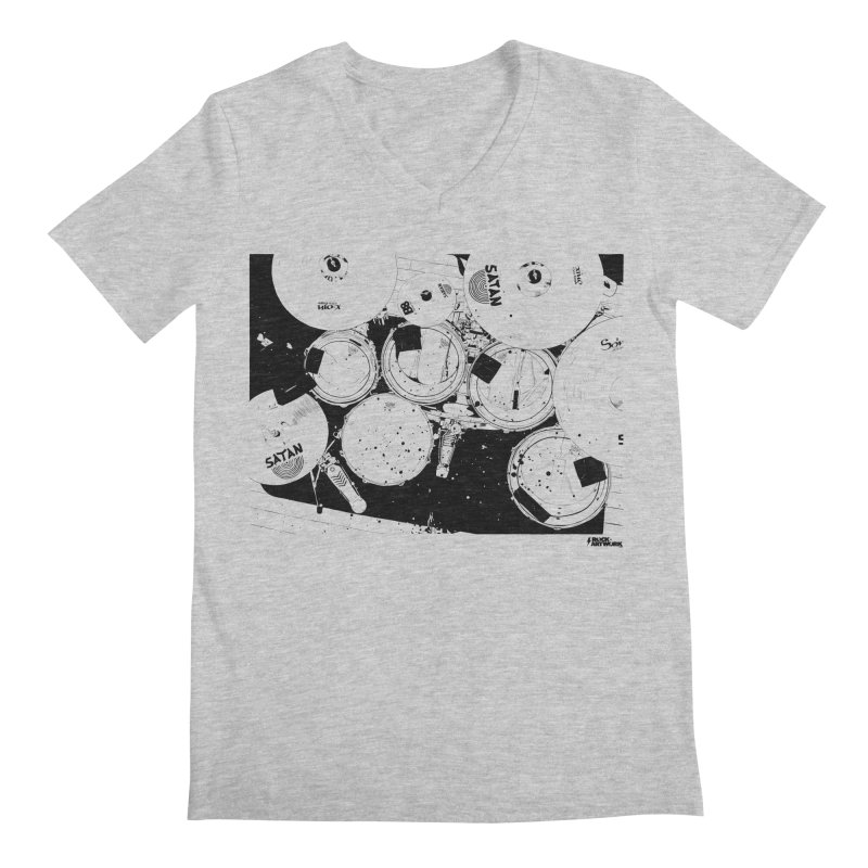 drums Men's Regular V-Neck by ROCK ARTWORK | T-shirts & apparels