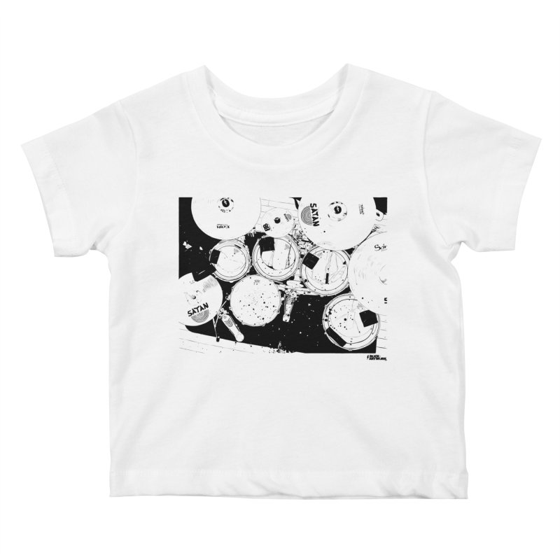 drums Kids Baby T-Shirt by ROCK ARTWORK | T-shirts & apparels