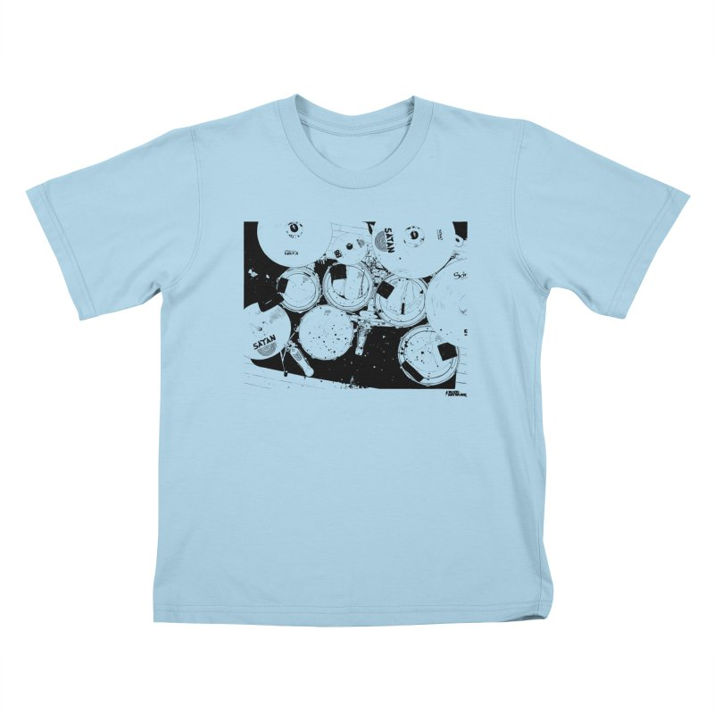 drums Kids T-Shirt by ROCK ARTWORK | T-shirts & apparels